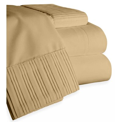 Chamberlain London Microfiber Sheet Set Color: Taupe, Size: Queen