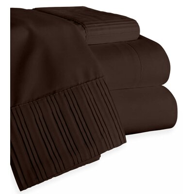 Chamberlain London Microfiber Sheet Set Size: King, Color: Brown