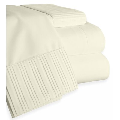 Chamberlain London Microfiber Sheet Set Color: Ivory, Size: Queen