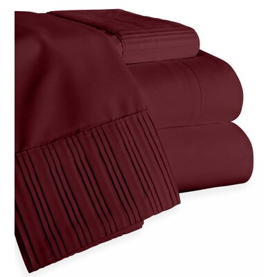 Chamberlain London Microfiber Sheet Set Color: Burgundy, Size: Queen