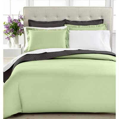 3 Piece Duvet Cover Set Size: Twin, Color: Sage
