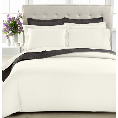 3 Piece Duvet Cover Set Size: Twin, Color: Ivory