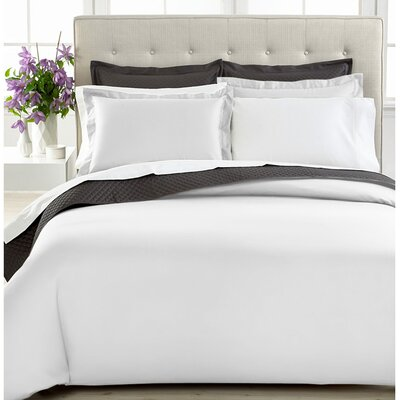 3 Piece Duvet Cover Set Size: Twin, Color: White