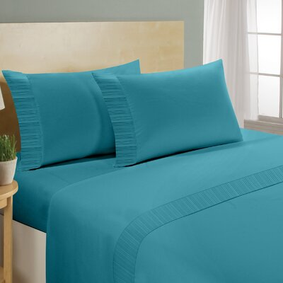 Chamberlain London Microfiber Sheet Set Color: Aqua, Size: Full