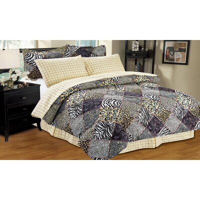 8 Piece Reversible Bed-In-A-Bag Size: Queen