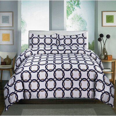 600 Thread Count Cotton Sateen Sheet Set Size: King, Color: Navy