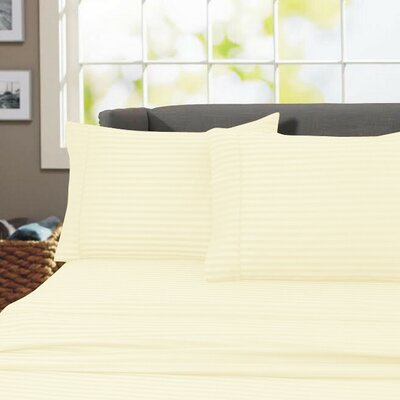 Sheldrake 600 Thread Count 100% Cotton Sheet Set Color: Ivory, Size: Full