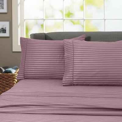 Sheldrake 600 Thread Count 100% Cotton Sheet Set Color: Purple, Size: King