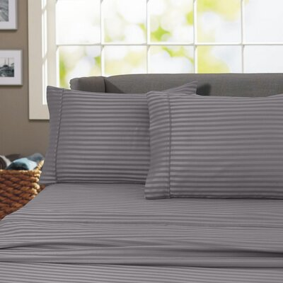 Sheldrake 600 Thread Count 100% Cotton Sheet Set Color: Gray, Size: King
