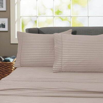 Sheldrake 600 Thread Count 100% Cotton Sheet Set Color: Taupe, Size: Twin