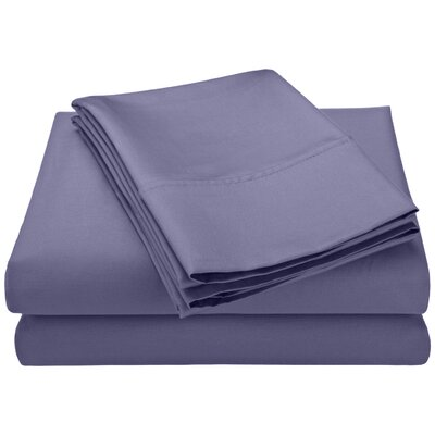 Swiss Club 320 Thread Count 100% Rayon from Bamboo Sheet Set Color: Blue, Size: Queen