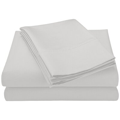 Swiss Club 320 Thread Count 100% Rayon from Bamboo Sheet Set Color: White, Size: King