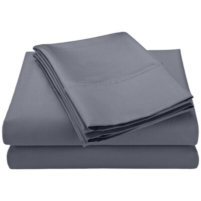 Swiss Club 320 Thread Count 100% Rayon from Bamboo Sheet Set Color: Gray, Size: Queen