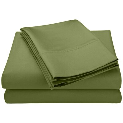 Swiss Club 320 Thread Count 100% Rayon from Bamboo Sheet Set Color: Sage, Size: Queen