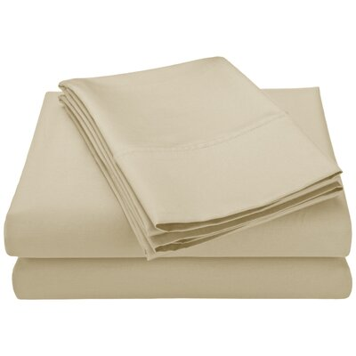 Swiss Club 320 Thread Count 100% Bamboo Sheet Set Color: Ivory, Size: King