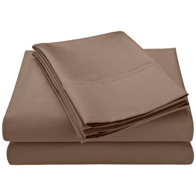 Swiss Club 320 Thread Count 100% Rayon from Bamboo Sheet Set Color: Taupe, Size: Queen