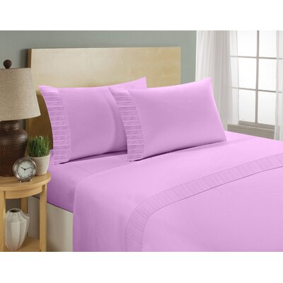 Chamberlain London Microfiber Sheet Set Size: Queen, Color: Purple