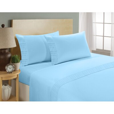 Chamberlain London Microfiber Sheet Set Size: King, Color: Blue