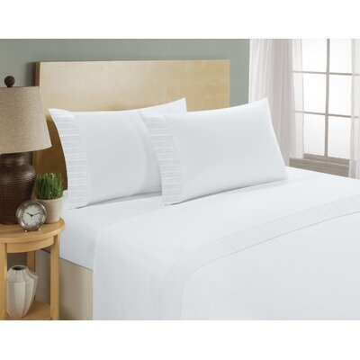 Chamberlain London Microfiber Sheet Set Size: King, Color: White
