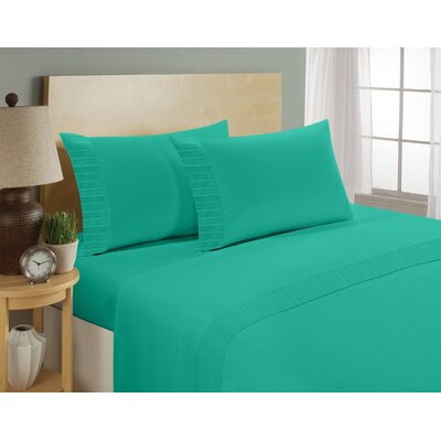 Chamberlain London Microfiber Sheet Set Size: King, Color: Teal