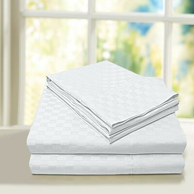 Beverly Hills 600 Thread Count 100% Cotton Egyptian Quality Sheet Set Color: White, Size: Queen