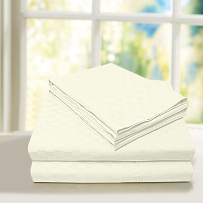 Beverly Hills 600 Thread Count 100% Cotton Egyptian Quality Sheet Set Color: Ivory, Size: Twin