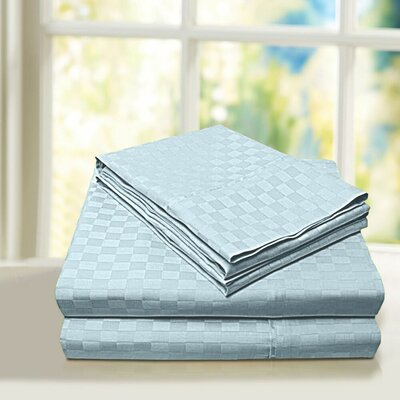 Beverly Hills 600 Thread Count 100% Cotton Egyptian Quality Sheet Set Color: Blue, Size: King