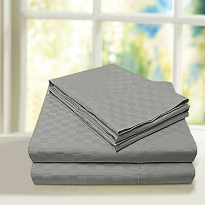 Beverly Hills 600 Thread Count 100% Cotton Egyptian Quality Sheet Set Color: Gray, Size: Full