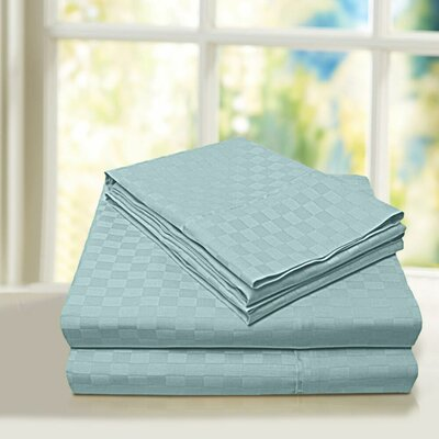 Beverly Hills 600 Thread Count 100% Cotton Egyptian Quality Sheet Set Color: Aqua, Size: Twin
