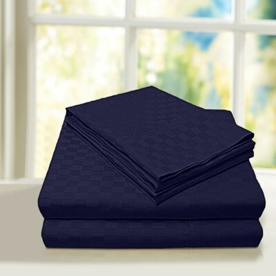 Beverly Hills 600 Thread Count 100% Cotton Egyptian Quality Sheet Set Color: Navy, Size: Full