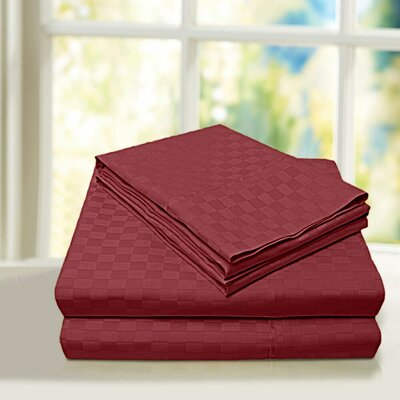 Beverly Hills 600 Thread Count 100% Cotton Egyptian Quality Sheet Set Color: Burgundy, Size: Queen