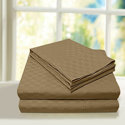 Beverly Hills 600 Thread Count 100% Cotton Egyptian Quality Sheet Set Color: Latte, Size: Queen