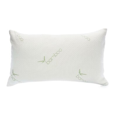 Hypoallergenic Rayon from Bamboo Memory Foam Pillow Size: King