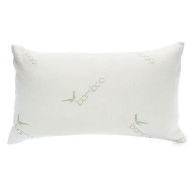 Hypoallergenic Rayon from Bamboo Memory Foam Pillow Size: Queen