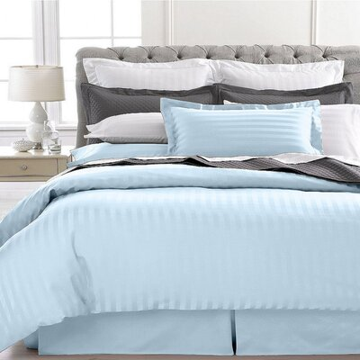 Vankirk Polyester 3 Piece Duvet Set Color: Blue, Size: Full/Queen