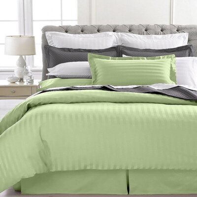 Lafountain 2 Piece Twin Duvet Set Color: Sage