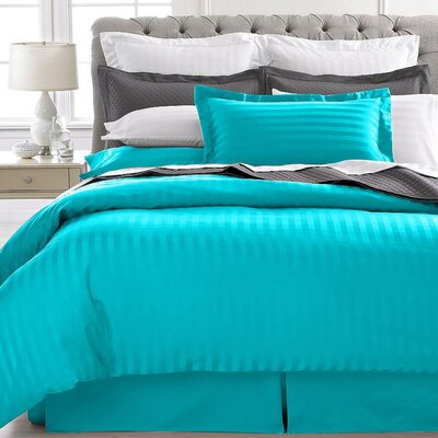 Vankirk Polyester 3 Piece Duvet Set Color: Aqua, Size: Full/Queen
