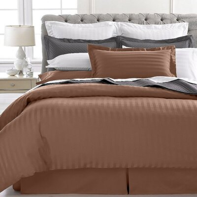 Vankirk Polyester 3 Piece Duvet Set Color: Brown, Size: King/Cali King