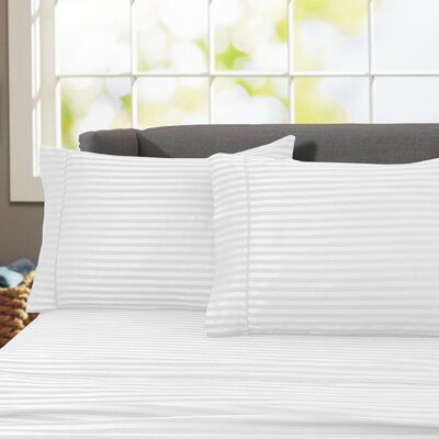 Sheldrake 4 Piece 600 Thread Count 100% Cotton Sheet Set Color: White
