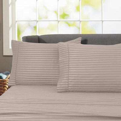 Sheldrake 4 Piece 600 Thread Count 100% Cotton Sheet Set Color: Tuape