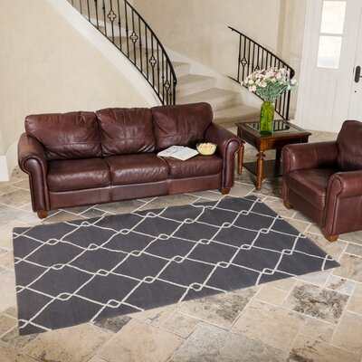 Charcoal Indoor/Outdoor Area Rug Rug Size: 5 x 8