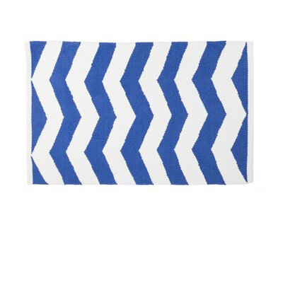 Blue/White Indoor/Outdoor Area Rug Rug Size: 2 x 3