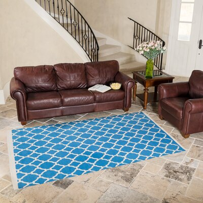 Turquoise Indoor/Outdoor Area Rug