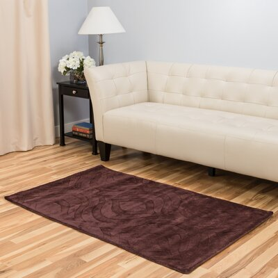 Hand-Tufted Chocolate Area Rug Rug Size: 3 x 5