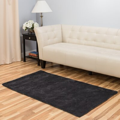 Hand-Tufted Charcoal Area Rug Rug Size: 3 x 5