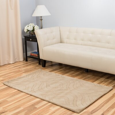 Hand-Tufted Tan Area Rug Rug Size: 3 x 5