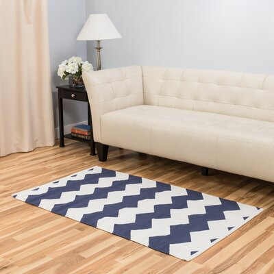 Blue/White Indoor/Outdoor Area Rug Rug Size: 3 x 5