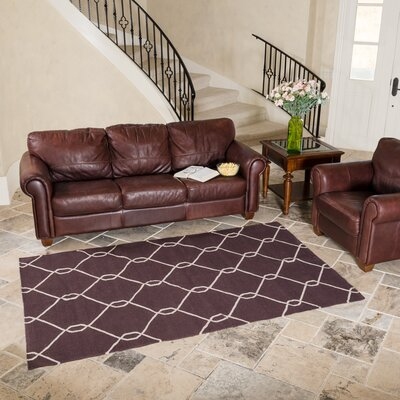 Chocolate Area Rug Rug Size: 5 x 8