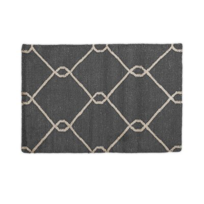 Charcoal Indoor/Outdoor Area Rug Rug Size: 2 x 3
