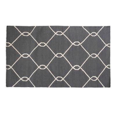 Charcoal Indoor/Outdoor Area Rug Rug Size: 3 x 5